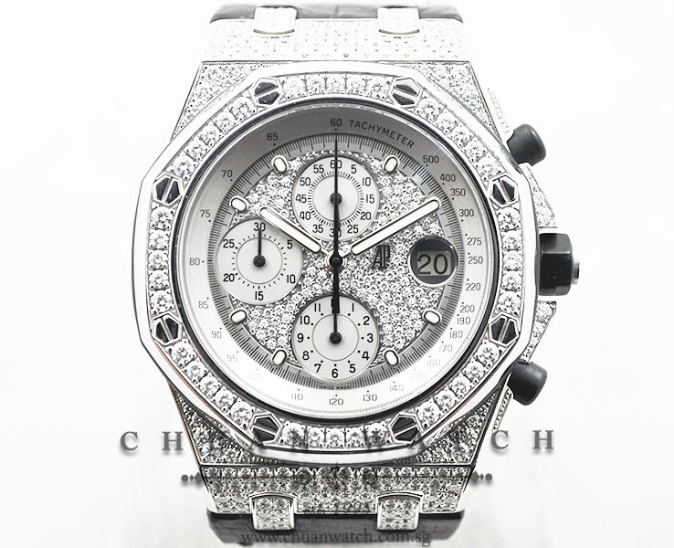 AP ROO Offshore 42mm Pave Diamonds 26067BC