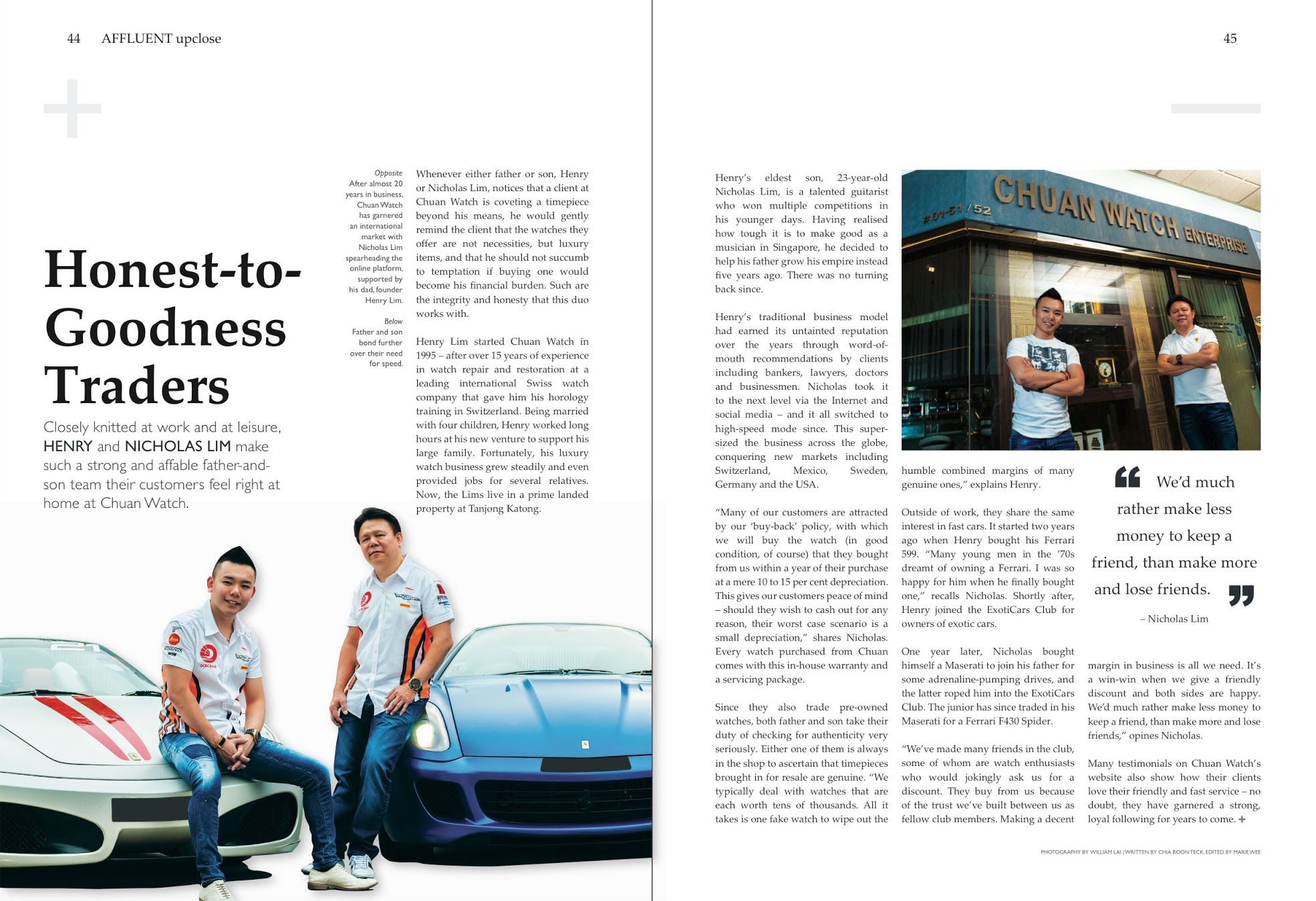 Affluent Magazine Interview